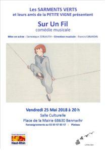 Les Sarments Verts vous présentent :  «  Sur un fil » @ Salle Culturelle | Bennwihr | Grand Est | France